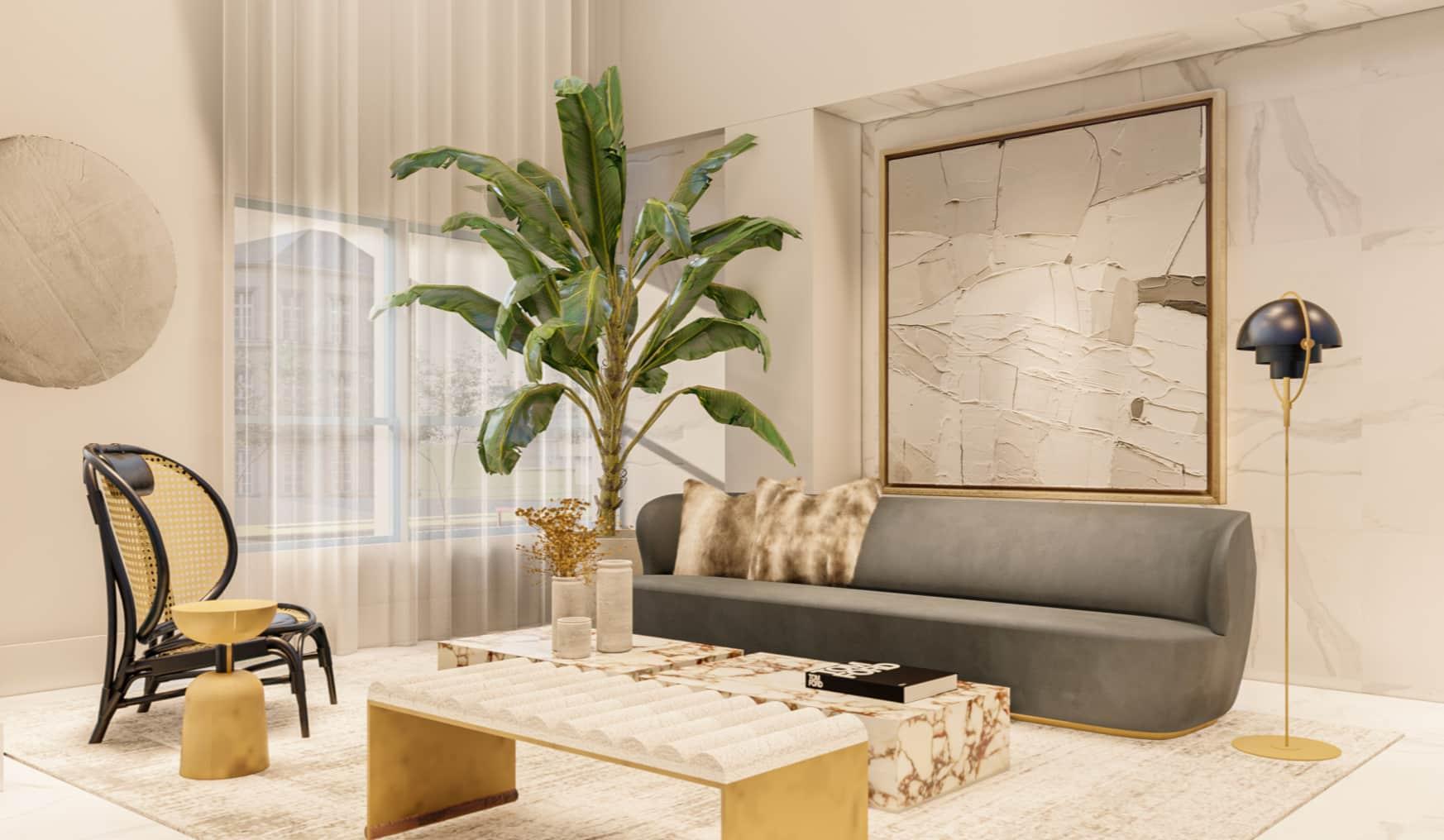 J5 midtown living room